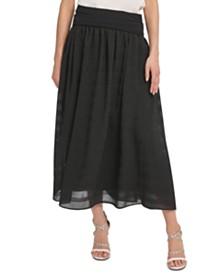 DKNY Pull-On Midi Skirt
