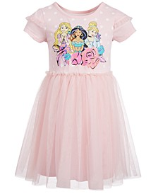 Little Girls Princesses & Pets Mesh Dress