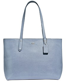 Central Tote In Polished Pebble Leather