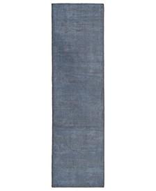 """Luminary LUM01-17 Blue 2'3"""" x 8' Runner Rug"""