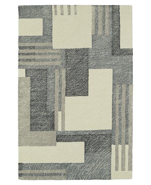 Kaleen Montage MTG04-01 Ivory 2' x 3' Area Rug