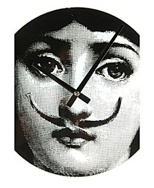 Girl With Moustache Wall Clock