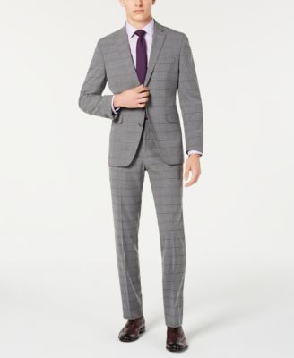 Kenneth Cole REACTION Mens Stretch Slim Fit Suit