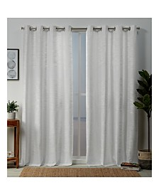 """Exclusive Home Kadomo Striped Grommet Top 54"""" X 96"""" Curtain Panel Pair"""