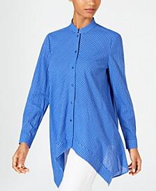 Cotton Gingham-Print Tunic