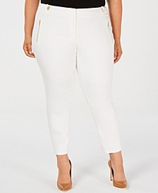 Plus Size Cropped Skinny Pants