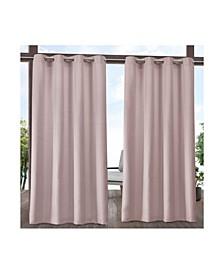 """Indoor/Outdoor Solid Cabana Grommet Top Curtain Panel Pair, 54"""" x 108"""""""