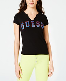 GUESS Cotton Athletic Graphic T-Shirt