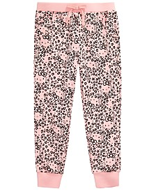 Hello Kitty Little Girls Leopard-Print Jogger Pants
