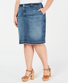 Michael Michael Kors Plus Size Jean Skirt