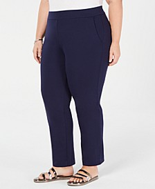 Plus Size Pull-On Slim-Leg Pants