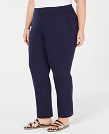 Michael Michael Kors Plus Size Pull-On Slim-Leg Pants
