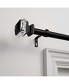 """Marquise 1"""" Curtain Rod and Coordinating Finial Set, Adjustable 66""""-120"""""""