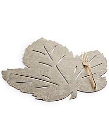 Metallic Leaf Soft Gold-Tone Placemat