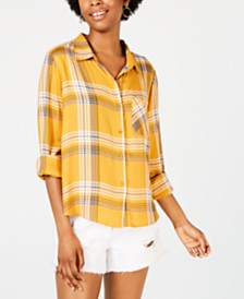 Ultra Flirt Juniors' Plaid Shirt