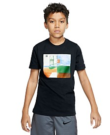 Nike Big Boys Dri-FIT Hoop Photos Graphic T-Shirt