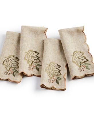 Harvest Wreath Napkins, Set of 4
