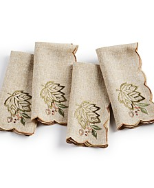 Elrene Harvest Wreath Napkins, Set of 4