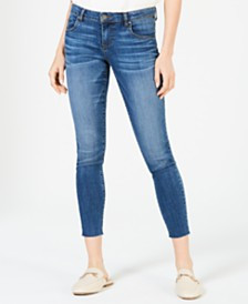 Kut from the Kloth Donna Raw-Hem Ankle Skinny Jeans