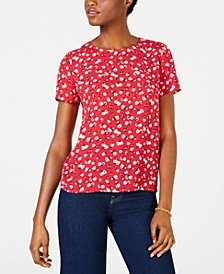 Printed Button-Back Top, Created for Macy's