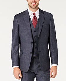 Tommy Hilfiger Men's Modern-Fit THFlex Stretch Blue Plaid Suit Separate Jacket