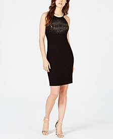 Studded-Logo Halter Dress