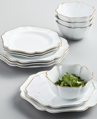 12-Pc. Baroque Dinnerware Set, Service for 4, Created for Macy's
