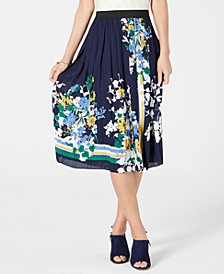 Printed Pleated Midi Skirt, Created for Macy's