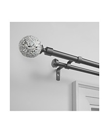 """Exclusive Home Mosaic Double Curtain Rod and Finial Set, 36""""-72"""""""