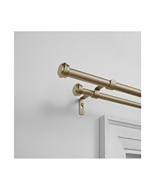 """Exclusive Home Topper Double Curtain Rod and Finial Set, 36""""-72"""""""