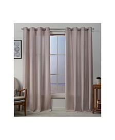 "Baxter Textured Basketweave Grommet Top Curtain Panel Pair, 54"" x 84"""