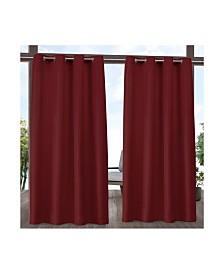 """Exclusive Home Indoor/Outdoor Solid Cabana Grommet Top 54"""" X 84"""" Curtain Panel Pair"""