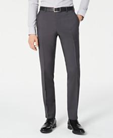 HUGO By Hugo Boss Men's Slim-Fit Gray Sharkskin Suit Separate Pants