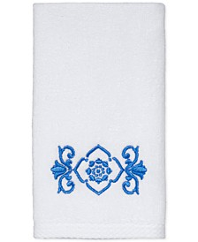 "CLOSEOUT! Scroll Cotton 12"" x 18"" Fingertip Towel"