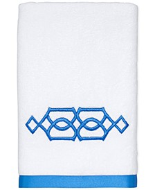 "CLOSEOUT! Geo Cotton 16"" x 30"" Hand Towel"