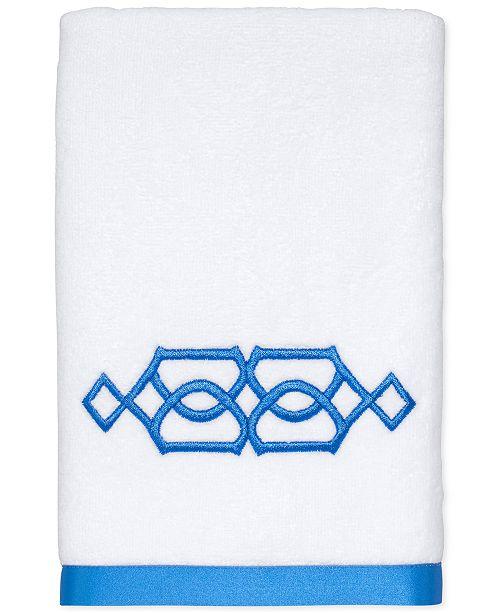 "Avanti  CLOSEOUT! Geo Cotton 16"" x 30"" Hand Towel"
