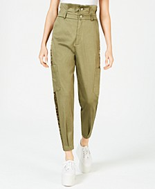 Tapered Paperbag Trousers
