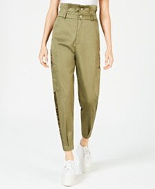 La La Anthony Tapered Paperbag Trousers