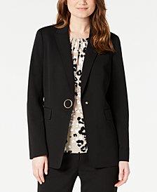 Calvin Klein Petite One-Button Jacket