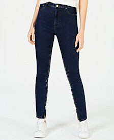 Power-Zip Stiletto High-Rise Skinny Jeans