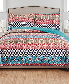 Alexis 3-Piece Reversible Quilt Set - King