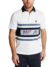 Men's Blue Sail Classic-Fit Logo Stripe Piqué Polo Shirt, Created for Macy's