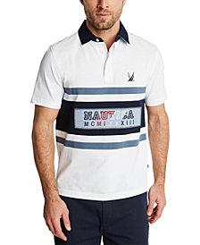 Nautica Men's Blue Sail Classic-Fit Logo Stripe Piqué Polo Shirt, Created for Macy's