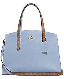 COACH Signature Colorblock Leather Charlie Carryall