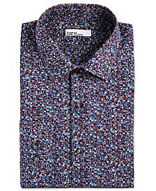 Bar III Men's Slim-Fit Performance Stretch Floral-Print Dress Shirt, Created for Macy's