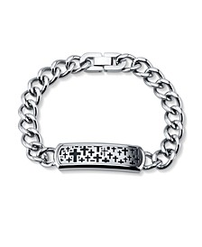Cross Llink Bracelet in Stainless Steel