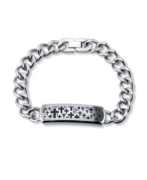 Cross Llink Bracelet in Stainless Steel