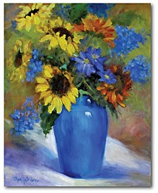 Sunflowers in Vase II Gallery-Wrapped Canvas Wall Art Collection