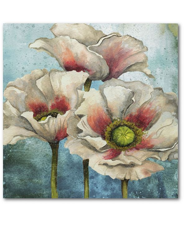 """Courtside Market Poppies Over I 16"""" x 16"""" Gallery-Wrapped Canvas Wall Art"""