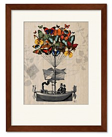 Courtside Market Butterfly Adventures Framed and Matted Art